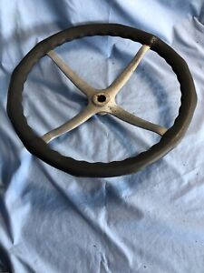 Large Vintage Bakelite Steering Wheel Hot Rat Rod Wooden Wood Antique Boat Chevy
