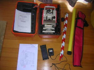 Pentax Total Station Ptc 510c Surveying Instrument Calibrated Accessories