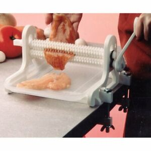 Mister Tenderizer Hand Cranked Meat Tenderizer Rust Proof Poly Construction