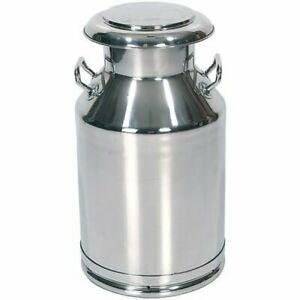Functional And Decorative Stainless Steel Milk Can 24 1 2 H 10 5 Gallon