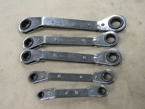 Blue Point 5pc Offset Ratcheting Wrench Set Metric 12pt Usa