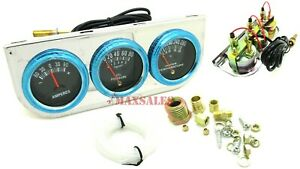 Auto Triple Gauge Kit Amp Water Temp Oil Car Truck Parts Automotive