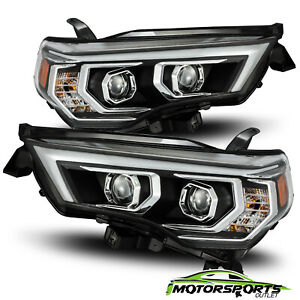Fit 2014 2020 Toyota 4runner Led Drl signal Black Projector Headlights Pair