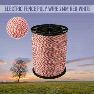 500m Roll Electric Poly Fence Wire Polywire Steel Horse Fencing Low Resistance
