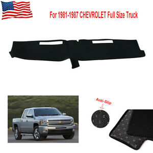Dashmat Dashboard Cover Pad For 1981 1987 Chevrolet Full Size Truck Cover