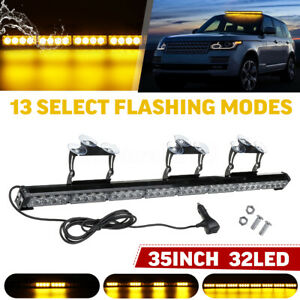 35 32 Led Car Emergency Warning Flash Strobe Light Bar Traffic Advisor Light