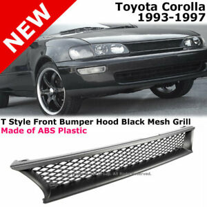 For Corolla 1993 1997 Front Bumper Abs Black Mesh Grille Conversion T Style