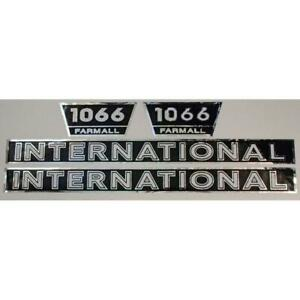 Hood Numbers Only Decal Set For International Farmall 1066 Fa606s
