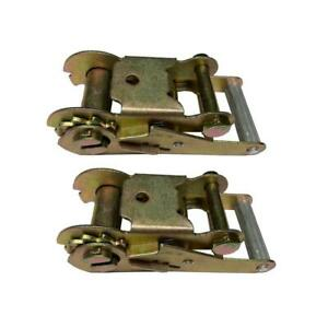 2 Ratchet Handles For Tow Dolly Car Hauler Flat Bed 2 Ratchet Strap Tie Down