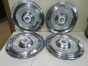 Vintage Set Of 4 1954 1955 Oldsmobile Hubcaps