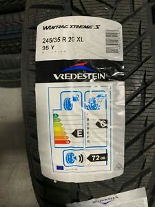 2 New 245 35 20 Vredestein Wintrac Xtreme S Snow Tires