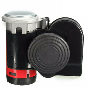 12v 139db Motorcycle Car Air Horn Snail Dual Tone Loud Compact Truck Lorry Boat