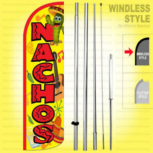 Nachos Windless Swooper Flag Kit 15 Feather Banner Sign Yq h