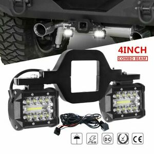 Tow Hitch Mounting Bracket 4 Led Work Backup Reverse Light Bar Pods Wiring