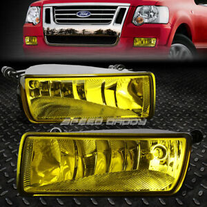 For 06 10 Ford Explorer Sport Trac Amber Lens Bumper Fog Light Replacement Lamp