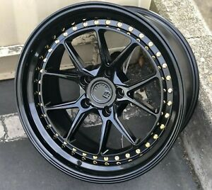 18x9 5 5x114 3 30 Aodhan Ds08 Gloss Black 18 Inch Wheels Set 4
