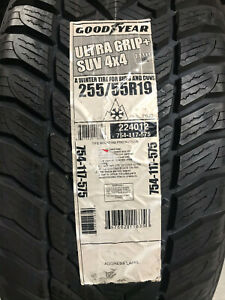 4 New 255 55 19 Goodyear Ultra Grip Suv 4x4 Snow Tires