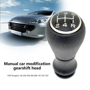 5 Speed Gear Stick Shift Knob For Peugeot 106 206 306 406 806 107 207 307 Usa