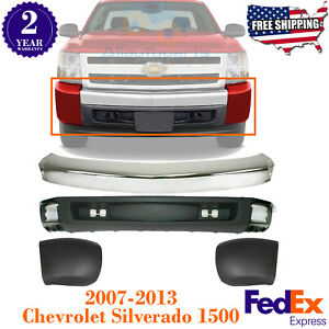 Front Bumper Chrome Ends Valance For 2007 2013 Chevrolet Silverado 1500
