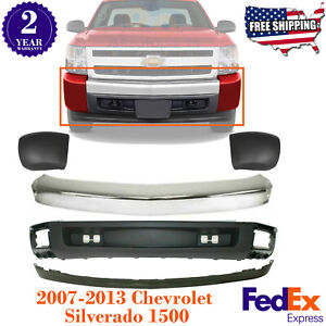 Front Bumper Ends Valance Extension For 2007 2013 Chevy Silverado 1500