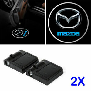 2 X Mazda Car Door Welcome Led Light Courtesy Projector Ghost Shadow Sticker