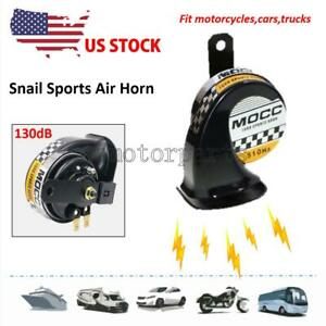 Black Motorcycle Snail Loud Horn For Harley Davidson Street Glide Flhx Touring