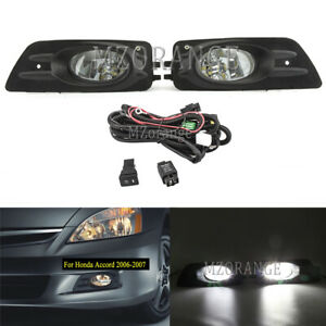 Led Fog Light Wiring Switch For Honda Accord 2006 2007 Clear Bumper Lamp Bulbs