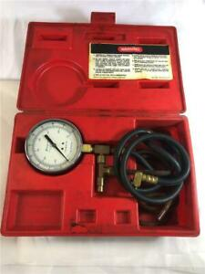 Snap On Mt337a Fuel Injector Pressure Gauge With Case