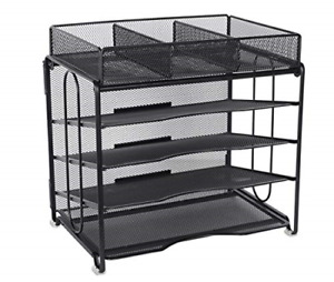 Office Desk Organizer 4 tier File Holder With 3 Compartments Accessories Drawer