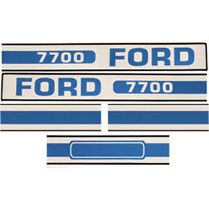 F7700 New Tractor Hood Decal Fits Ford Fits New Holland Tractor 7700 D f7700
