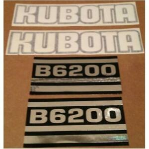 Kb6200 Hood Decal Set Made To Fit Kubota Compact Tractor Model B6200