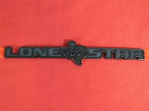 Dodge Ram 2500 3500 Black Lonestar Tailgate Badge New Oem Mopar