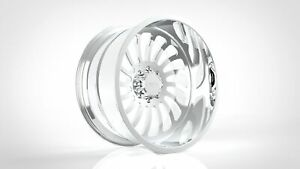 4 24x12 Jtx Forged Polished Chamber Wheels For Chevy Gmc Ford Dodge Toyota