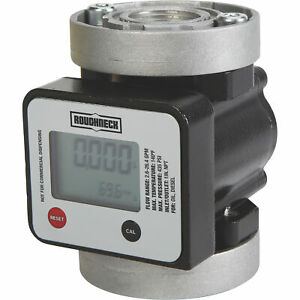 Roughneck Digital Oval Gear Diesel Fuel Meter 2 64 26 4 1in Inlet outlet
