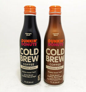 2 Dunkin' Donuts Alu aluminum bottles Cold brew coffee USA empty from Coca Cola