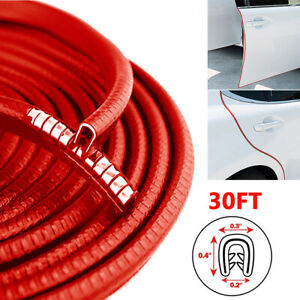 30ft Car Door Rubber Seal Strip U Shape Edge Trim Guard Protector Weatherstrip