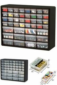 Small Parts Storage Plastic Cabinet Container Organizer box 44 Drawers Pull Bins