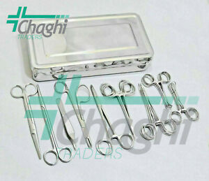 General Surgery Veterinary Orthopedic Surgical Instruments 21 Pcs Set With Box C