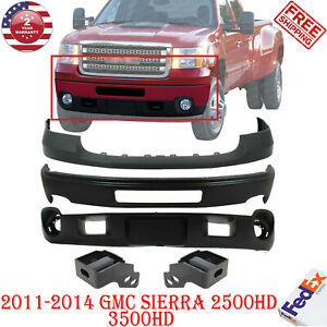 Front Bumper Up Cover Valance Brackets For 2011 2014 Gmc Sierra 2500hd 3500hd