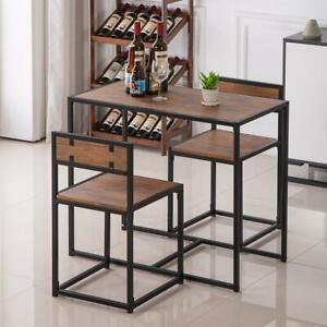 2 Seater Dining Table And Chairs Breakfast Kitchen Room Small Furniture Set New