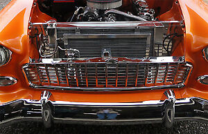 1955 1956 1957 Chevy Radiator And Core Support Polished For Sbc