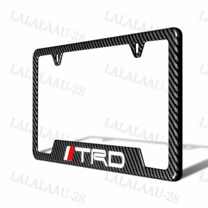 X1 New For Trd Abs Carbon Fiber Look License Plate Frame