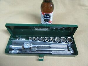 S K 3 8dr Sae Socket Set 15pc 3 8 7 8 Usa Ratchet Nice Sk3 4 20 Dc