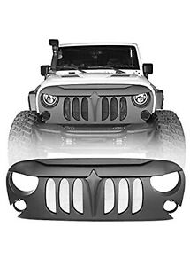 Hooke Road Jeep Wrangler Front Grill Matte Insert For 2007 2018