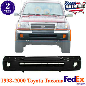 Front Bumper Cover Textured With Fog Light Holes For 1998 2000 Toyota Tacoma