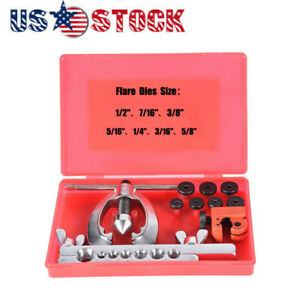 Double Flaring Brake Line Tools Kit Tubing Car Truck Tool With Mini Pipe Cutter