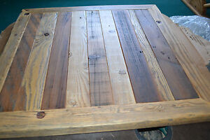 5pc Lot Reclaimed Barn Wood Table Top 30x30 Urban Rustic Restaurant Modern Cafe
