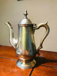Antique Colonial India Silver Plate Teapot 7 3 8 High