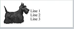 Personalized Address Labels Scottish Terrier Dog Buy 3 Get 1 Free p 870