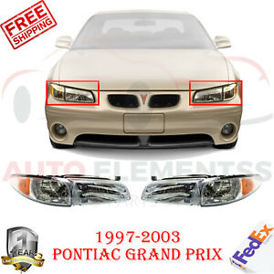 Front Head Light Assembly Halogen For 1997 2003 Pontiac Grand Prix Coupe Sedan